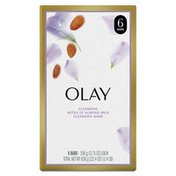OLAY Hydrating Clean Beauty Bars, Almond Milk, Personal Cleansing