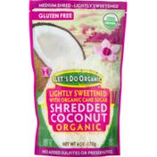 Let's Do Organic Shredded Coconut Lightly Sweetened