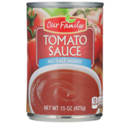 Our Family No Salt Added Tomato Sauce