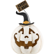 Gerson Pumpkin, w/ Sign, Lighted Resin, 5.5 Inch