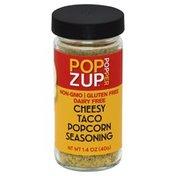Pop Zup Popcorn Seasoning, Cheesy Taco, Popper