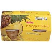 Hy-Vee Fruit Cups, Pineapple Tidbits