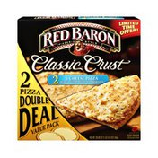 Red Baron Classic Crust 4 Cheese Pizza - 2 PK