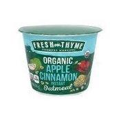 Fresh Thyme Organic Apple Cinnamon Oatmeal