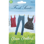 Fresh Scents Scented Sachets, Clean Clothes, 3 Pack
