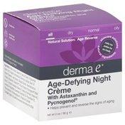 DERMA E Night Creme, Age-Defying Antioxidant, All