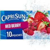Capri Sun Red Berry Strawberry Raspberry Naturally Flavored Juice Drink Blend