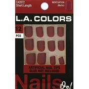 L.A. Colors Artificial Nail Tips, Short Length, Infatuation