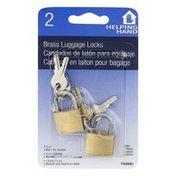 Helping Hand Brass Luggage Locks