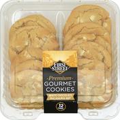 First Street Gourmet Cookies, Premium, White Chocolate, Macadamia Nut