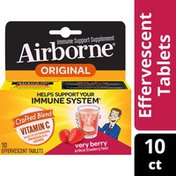 Airborne® Very Berry Effervescent Tablets - 1000mg of Vitamin C - Immune Support Supplement