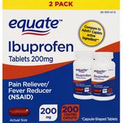 Equate Ibuprofen, 200 mg, Capsule-Shaped Tablets