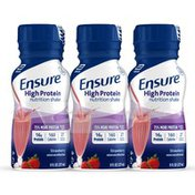 Ensure High Protein Nutrition Shake Strawberry Ready-to-Drink Bottles