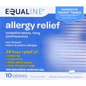 Equaline Allergy Relief, Original Prescription Strength, 10 mg, Tablets