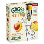 GoGo Squeez Fast Fruit, Apple Mango Pineapple Banana