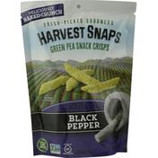 Harvest Snaps Green Pea Snack Crisps, Black Pepper, Cracked & Spicy