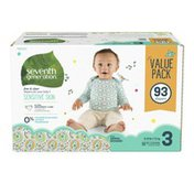 Seventh Generation Baby Diapers Size 3, 16-28 Lbs