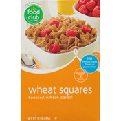 Food Club Wheat Squares Toasted Cereal