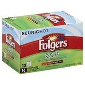 Folgers Coffee, Medium Roast, 1/2 Caff, K-Cup Pods