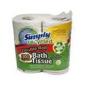 Simply Recycled Tissue Bath 4 Pk Dbl Roll