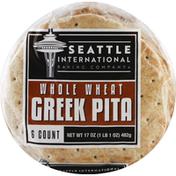 Seattle International Greek Pita, Whole Wheat