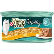 Purely Fancy Feast Elegant Medleys White Meat Chicken Florentine Pate With Cheese & Garden Greens Adult Wet Cat Food