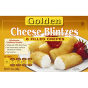 Golden Cheese Blintzes, Filled Crepes