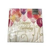 Paperproducts Design Birthday Balloons Lunch Napkin