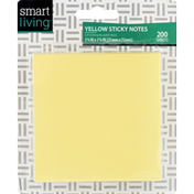 Smart Living Sticky Notes, Yellow