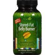 Irwin Naturals Belly Burner, Stored Fat, Liquid Soft-Gels