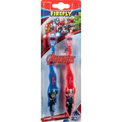Firefly Toothbrush, Marvel Avengers, Soft, 2 Pack