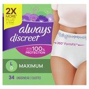Always Discreet Incontinence Underwear, Maximum Absorbency