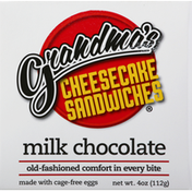 Grandmas Cheesecake Sandwiches Sandwiches, Milk Chocolate