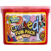Ja-Ru Inc. Chalked, Assorted Colors, Fun Pack, 20 Pieces