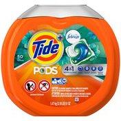 Tide PODS Plus Febreze, Botanical Rain, HE Turbo Laundry Detergent Pacs 50-load Tub Laundry