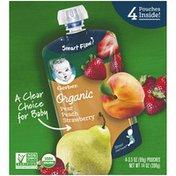 Gerber Organic Pear Peach Strawberry Baby Food