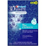 Crest Whitestrip 3d White Crest 3D White Whitestrips 1 Hour Express - Teeth Whitening Kit 4 Treatments Whitening/Sensitivity