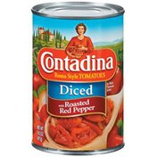 Contadina Diced with Roasted Red Pepper Tomatoes