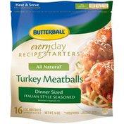 Butterball Everyday Recipe Starters Dinner Sized Italian Style Seasoned Turkey Meatballs