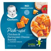Gerber Pick-Ups Chicken and Parmesan Cheese Ravioli in Tomato Sauce Toddler Meals