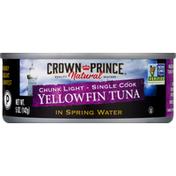 Crown Prince Yellowfin Tuna, in Spring Water, Chunk Light, Single Cook