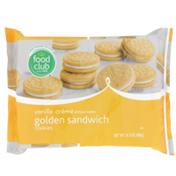 Food Club Vanilla Creme Golden Sandwich Cookies