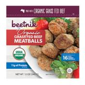 Beetnik Organic, Grass Fed Beef Meatballs