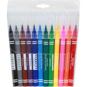 Sargent Art Markers, Brush Tip, Washable