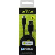 Fusebox Cable, USB-C to USB, 4 Feet