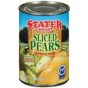 Stater Bros. Markets Sliced Pears In Heavy Syrup