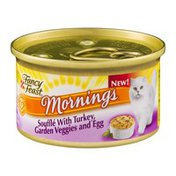 Fancy Feast Mornings Souffle with Turkey, Garden Veggies and Egg