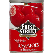 First Street Tomatoes, in Tomato Juice, Whole Peeled