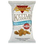 Michael Seasons Potato Chips, Kettle Cooked, Sea Salt & Balsamic Vinegar