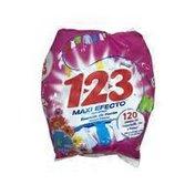 123 Max Effect Laundry Detergent Powder, Flowers Essence